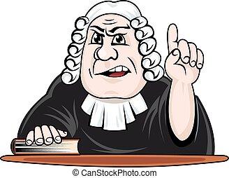 bíró, csinál, döntés