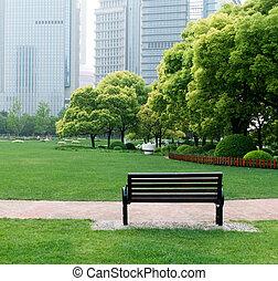 bírói szék, a parkban
