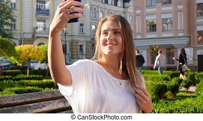 bírói szék, selfie, fiatal, video, 4k, haj, smartphone, ...