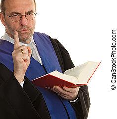 bírók, noha, kód, és, igazságosság