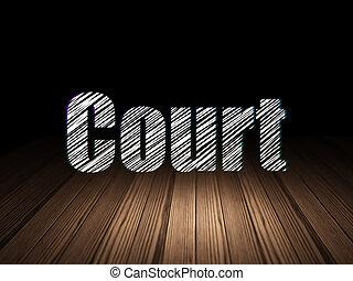 bíróság hely, sötét, grunge, törvény, concept: