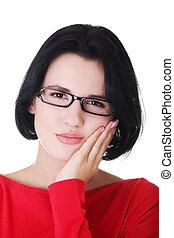 ból zębów, kobieta