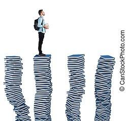 böcker, av, studierna