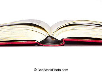 böcker, isolerat, vita, bakgrund