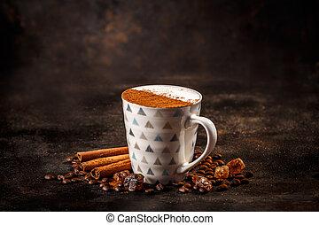 bögre, cappuccino