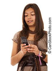 böjelse, sms, tonåring