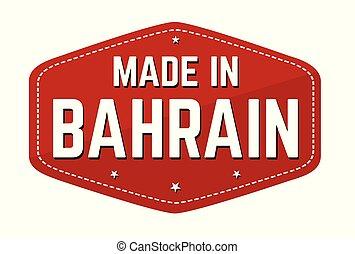 böllér, vagy, bahrain, elkészített, címke
