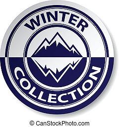 böllér, vektor, tél, gyűjtés