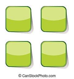 böllér, vektor, zöld, ábra