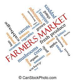 bönder marknadsför, ord, moln, begrepp, meta