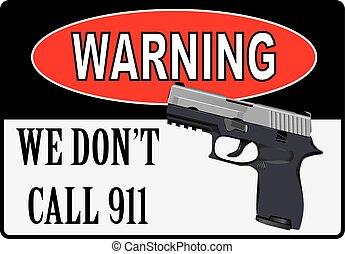 början, om, varning, skjutning