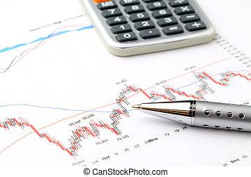 börse- diagramm