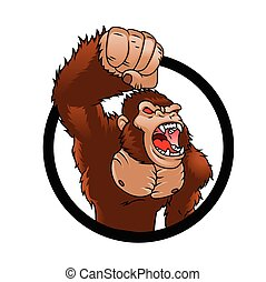 böser , gorilla, karikatur