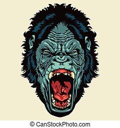 böser , gorillakopf