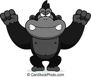 böser , karikatur, gorilla