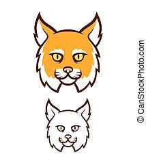 böser , wildcat, kopf, maskottchen