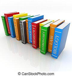 bøger, bindings, og, litteratur