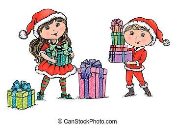 børn, jul