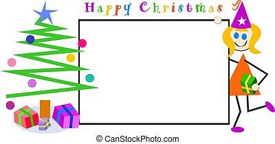 børn, jul, tegn