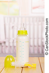 børneværelse, mælk flaske, pacifier