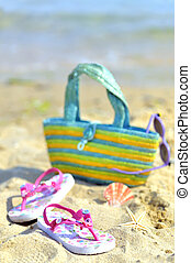 børns, strand, tilbehør