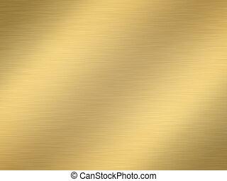 børst, guld