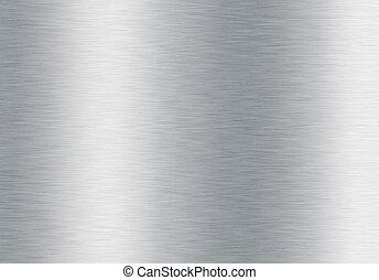 børst, sølv, baggrund, metallisk