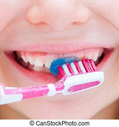 børste tand