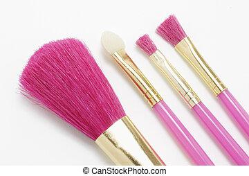 børster, makeup