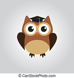 búho, graduado