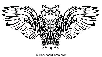 búho, tatuaje