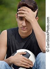 bús, hím, futball játékos