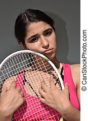bús, női tízenéves kor, teniszjátékos