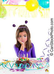bús, születésnap, asian gyermekek, buli lány, unott, kölyök