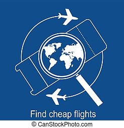 búsqueda, boletos, línea aérea