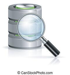 búsqueda, en, base de datos, concepto