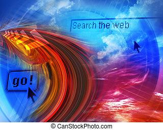 búsqueda, internet