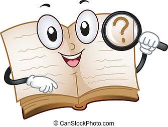 búsqueda, libro, mascota