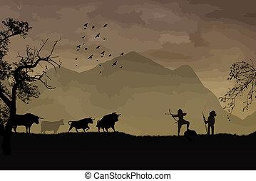 büffel, jagen