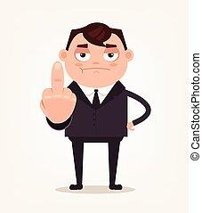 büroangestellte, unglücklich, disrespect., angestellter, ...