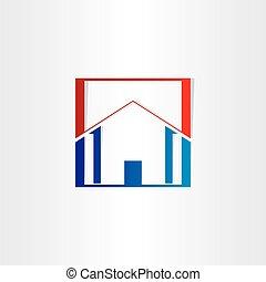 bürogebäude, immobilien- zeichen