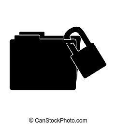 büroordner, bild, datei, ikone