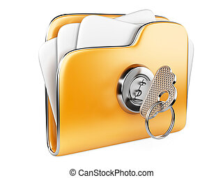 büroordner, files., key., sicher
