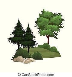 büsche, bäume