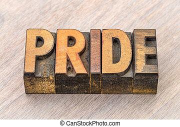 büszkeség, elvont, erdő, szó, gépel