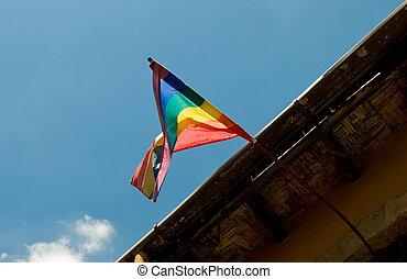 büszkeség, zászlórúd, buzi