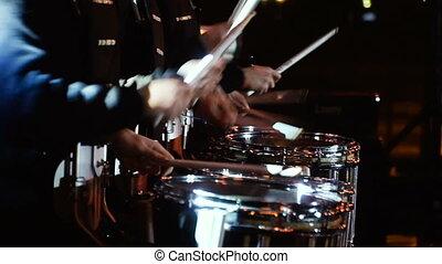 bębni, instruments., muzyczny