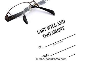 będzie, testament, okulary, ostatni, stół