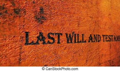 będzie, testament, ostatni