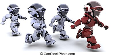 běh, robot